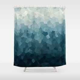 Ice Blue Mountains Moon Love Shower Curtain