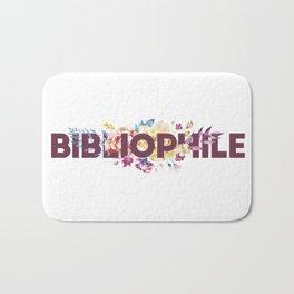 Floral BIBLIOPHILE Bath Mat