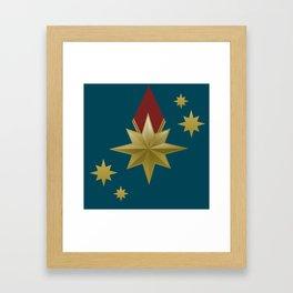 Superhero Stars Framed Art Print