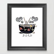 OISHII Noodle Bowl Framed Art Print