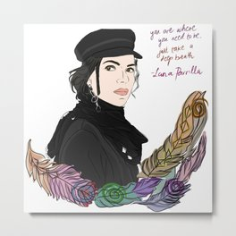Lana Parrilla Feathers of Hope Metal Print