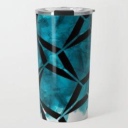 Aqua & Diamonds Travel Mug