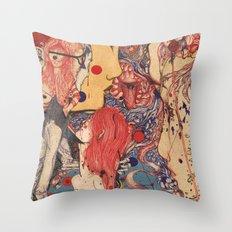 Release color Throw Pillow