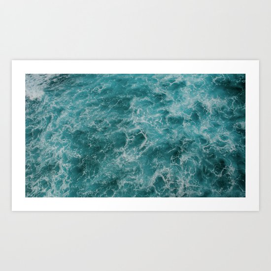 faded waves Art Print