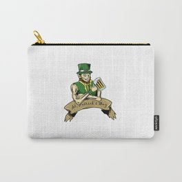 Beer Drinking Leprechaun St Patrick Day Irish Gift Carry-All Pouch