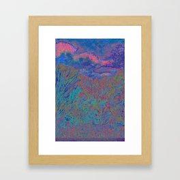 Evening In The Tall Grass Framed Art Print