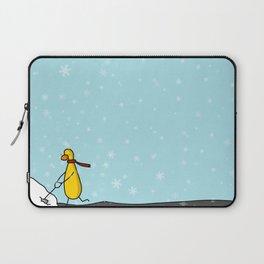 Snow Shoveling | Veronica Nagorny Laptop Sleeve