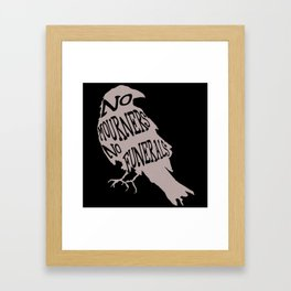 No Mourners No Funerals Six of Crows Framed Art Print