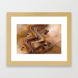 Chocolate Waves Framed Art Print