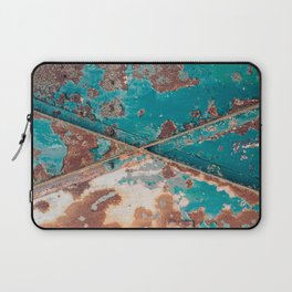 Teal and Rust Laptop Sleeve