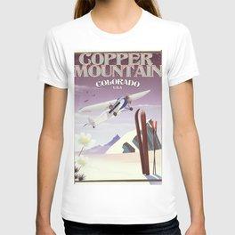 Copper Mountain colorado vintage poster T-shirt