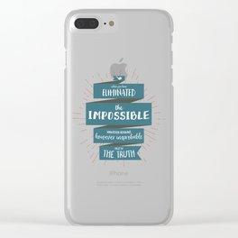 The Truth (blue) Clear iPhone Case