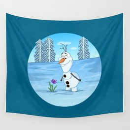 Olaf In Summer Wall Tapestry
