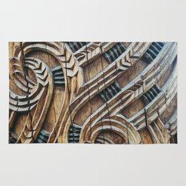 A Maori Carving Rug