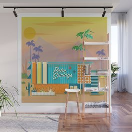 Palm Springs Apartment Wall Mural