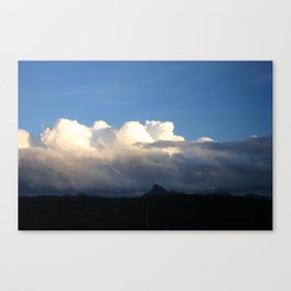 Red Rock in Shade Canvas Print