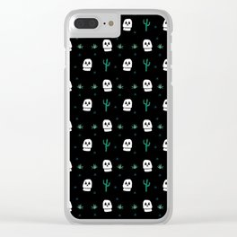 Calavera Cactus Clear iPhone Case
