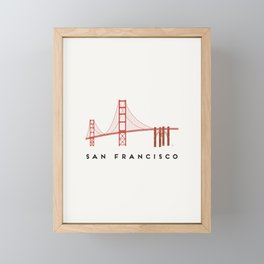 Golden Gate Bridge 2, San Francisco, California Framed Mini Art Print