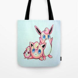 Jiggly, Wiggly, and Iggly Tote Bag
