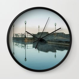 Cazenovia Lake On A Misty Morning Wall Clock