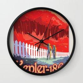 NASA Visions of the Future - Kepler-186f Wall Clock