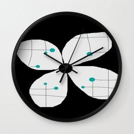 FLOWERY VIOLA / ORIGINAL DANISH DESIGN bykazandholly Wall Clock