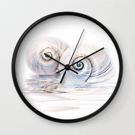 Snail Shells On Water Wall Clock