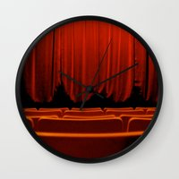 theatre Wall Clocks featuring Classic Theatre by creations by Cinnamon