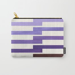 Purple, Watercolor, Gouache, Painting, Geometric, Zig Zag, Lightning Bolt, Pattern Carry-All Pouch