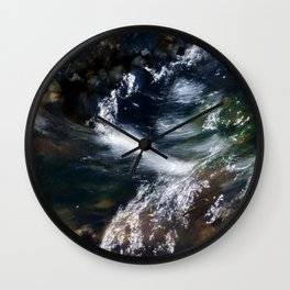 Water Flowing Over the Rocky Shallows Wall Clock