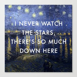 I Never Watch the Starry Night Canvas Print
