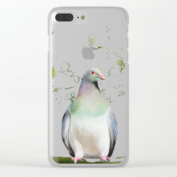 Wood Pigeon Clear iPhone Case