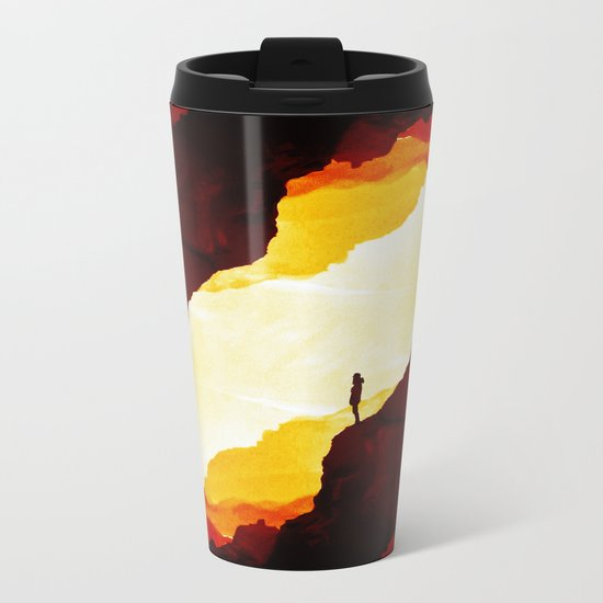 Red Isolation Metal Travel Mug