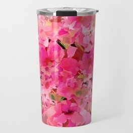 Peachy Pink Garden Travel Mug