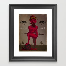 Naked King Framed Art Print