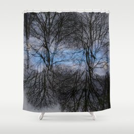 Abstract tress Shower Curtain