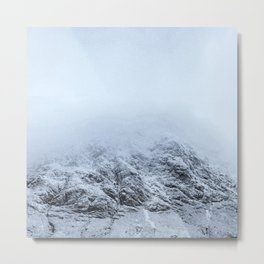 Letting go -  cold comfort in Glencoe Metal Print
