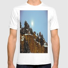 Snowy Night Mens Fitted Tee White MEDIUM