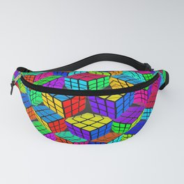 Rubik's Cube Abstract Perspective Fanny Pack