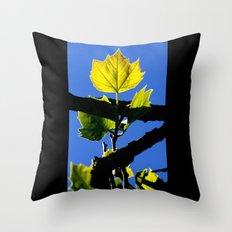 Spring Leaf. Throw Pillow