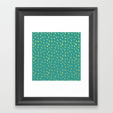 Little gold raindrops Framed Art Print