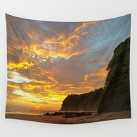coyote Wall Tapestries featuring Coyote Beach by Andooga Design