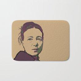 Simone de Beauvoir Bath Mat