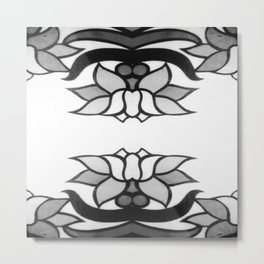 Black Lotus Metal Print