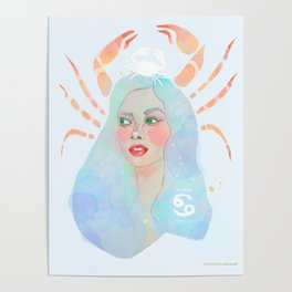 Cancer Queen Poster