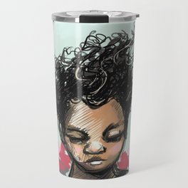 Girl with Butterfles Travel Mug