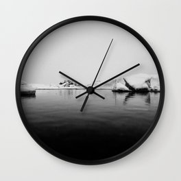 Iceland Black And White #society6 #home #decor Wall Clock
