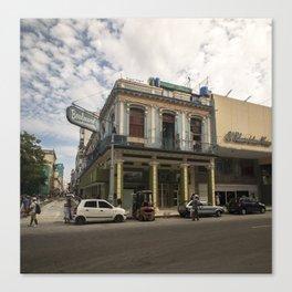 Nice lookin' street corner in La Havana, Cuba Canvas Print