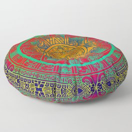 Aztec Sun God Floor Pillow