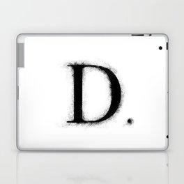 D. - Distressed Initial Laptop & iPad Skin